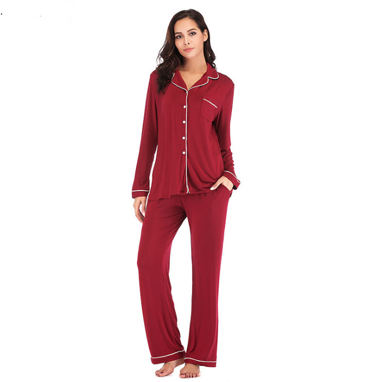 Image 2 - Winter Pajama Sets 2 Pieces Women Lounge Suit Velvet Elastic Long Sleeves Stretch Sleepwear Pants Tops Satin Plus Size ouc041-in Pajama Sets from Underwear & Sleepwears