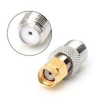 F Тип гнездо к SMA гнездо прямой RF коаксиальный адаптер F к SMA штекер