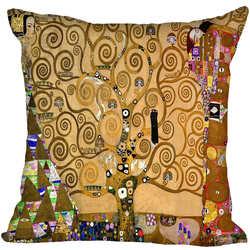 Специальное предложение Продвижение Густав Климт стиль пледы наволочка квадратный наволочка подарок на заказ 40x40 см