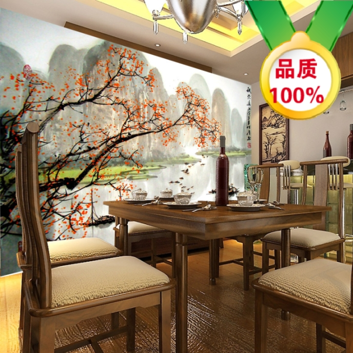 Custom 3D stereoscopic large mural bedroom living room sofa backdrop wallpaper wall paper classic Chinese landscape painting