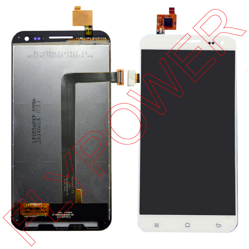 ФОТО For ZOPO 9520 ZP998 lcd display+touch screen digitizer assembly White by free shipping;100% warranty