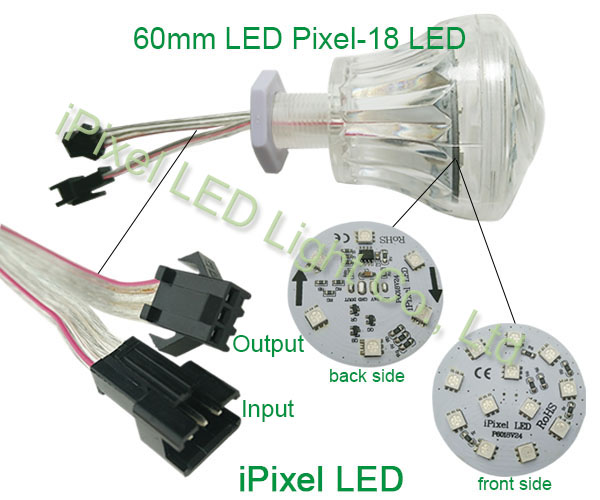 60mm rgb pixel light 5050 smd led for wheel ferris