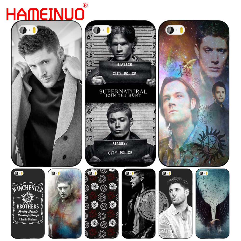 HAMEINUO Supernatural SPN Jensen Ackles cell phone Cover case for iphone 6 4 4s 5 5s SE 5c 6 6s 7 8 plus case for iphone 7 X