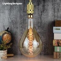 Big size PS52 A160 vintage edison light bulb incandescent decorative bulb E27 220V 60W Filament antique retro Edison lamp