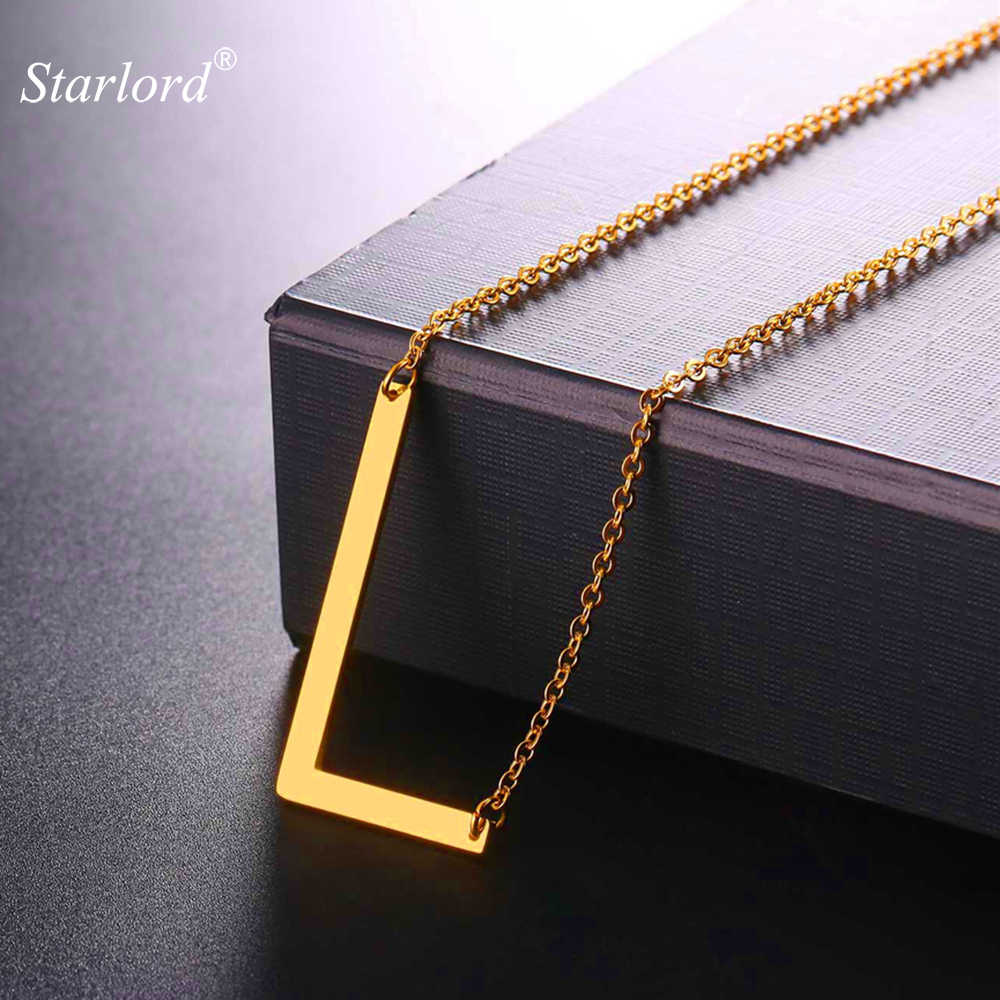 Starlord Letter L Pendants&Necklaces For Women Men Stainless Steel Necklace Personalized Lucky Gift Alphabet Jewelry GP2612