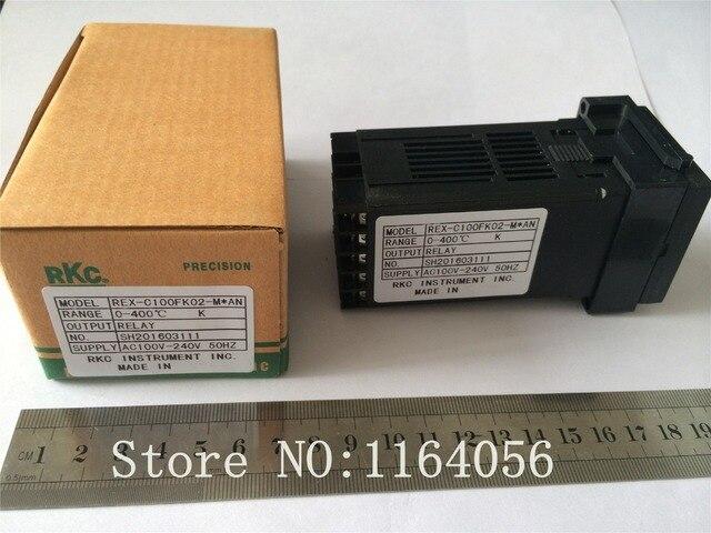 Contrôle de régulateur de température numérique PID REX-C100FK02-M * une sortie relais