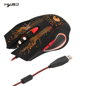 Image 3 - HXSJ H700 Adjustable 5500DPI Professional USB Wired Optical 6 Buttons Gaming Mouse with LED Backlight Ergonomical Design