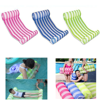 Summer PVC Floating Water Hammock Float Lounger Inflatable Floating Bed Beach Swimming Pool Lounge Float Bed Chair Kids Adults