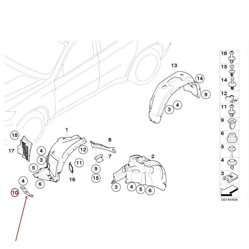 รถด้านหน้า mudguard ด้านหน้า fender strip Baffle Wind blocking lip เหมาะสำหรับ X5 X6 E71b mw2009-2014 Fender strip รถ Slim shield