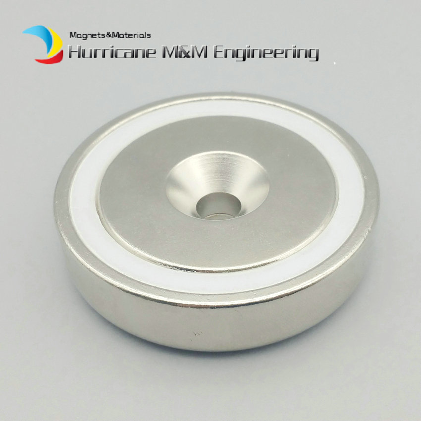 NdFeB Cup Magnet 16-75mm Diameter Strong Permanent Neodymium Lifting Magnets Clamping Pot Magnet with Countersunk Screw Hole 1 pack mounting magnet diameter 12 mm clamping pot magnet with steel hook neodymium lifting magnet strong magnet lathed cup
