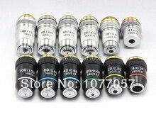 Бесплатная доставка, 4 eaTop качество 195 серии 4x 10x, 40x, 100x Микроскоп ахроматическая для 195 мм оптическая система
