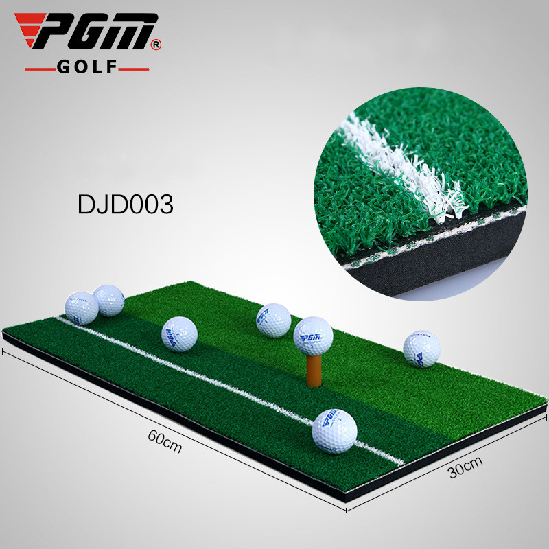 Golf Training Aids Manufacturer PGM Genuine Golf Practice Mat Pad Indoor Personal Exercise Mat Swing Ball Mat With Whiteline