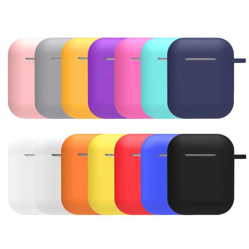 Silikonowe Protector rękawem wodoodporna, odporna na wstrząsy dla Apple AirPods skrzynka dla AirPods Bluetooth bezprzewodowe akcesoria do słuchawek