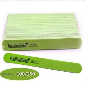 Image 2 - 200 pcs  Strong Thick Wood Nail Files 180/240 120/180 240/320 100/150 Lima Buffer Manicure  Wood Sanding Nails Files