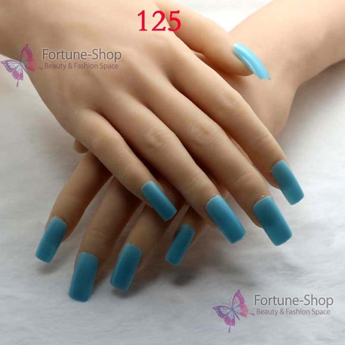 Aliexpress.com : Buy TKGOES 20pcs Beauty Fake Nails Color Sky Blue ...
