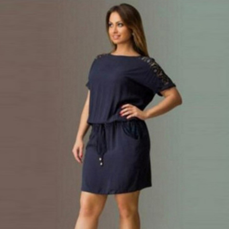 Women Summer Dress Casual Fashion Party Evening Plus Size Short Mini Dress