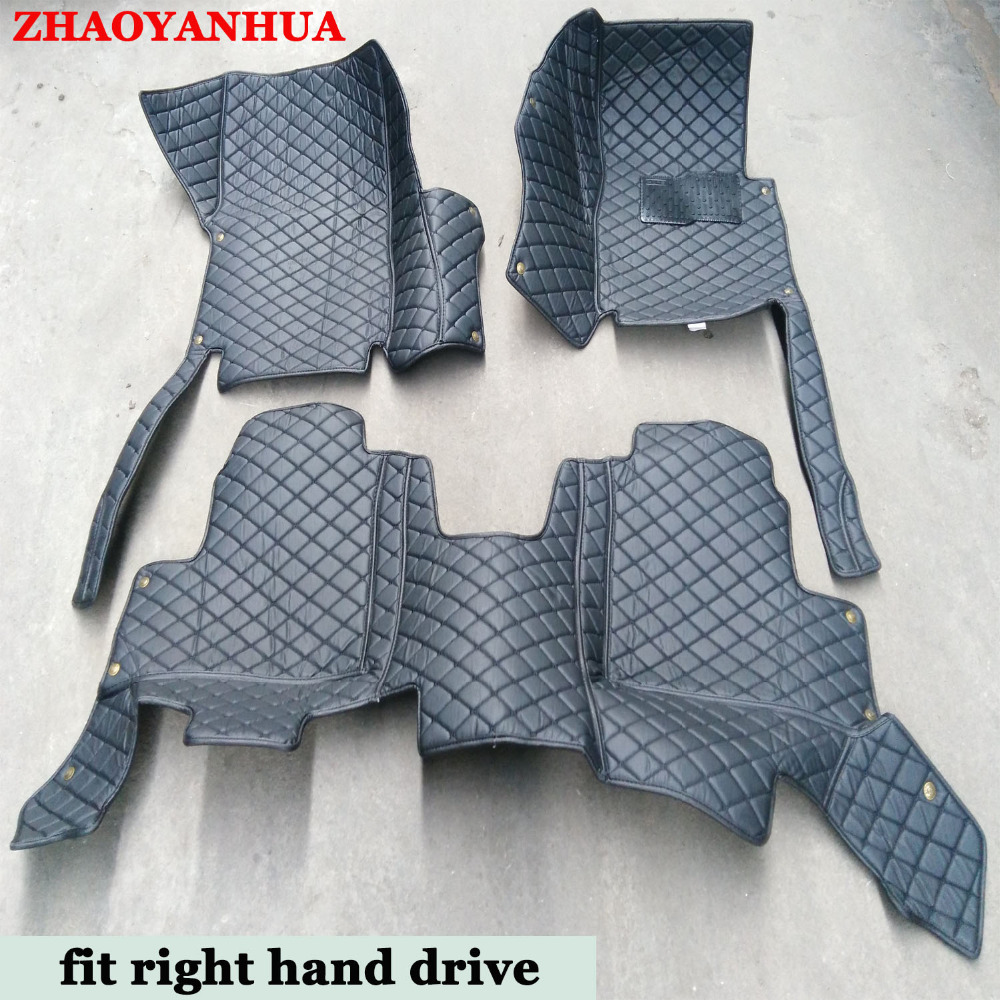 ZHAOYANHUA Custom fit car floor mats for Toyota Land Cruiser Prado 150 120 Corolla Camry RAV4 Camry carpet floor liners custom car floor mats for toyota land cruiser prado 150 fit most cars leather carpet mats protect interior four seasons car mats