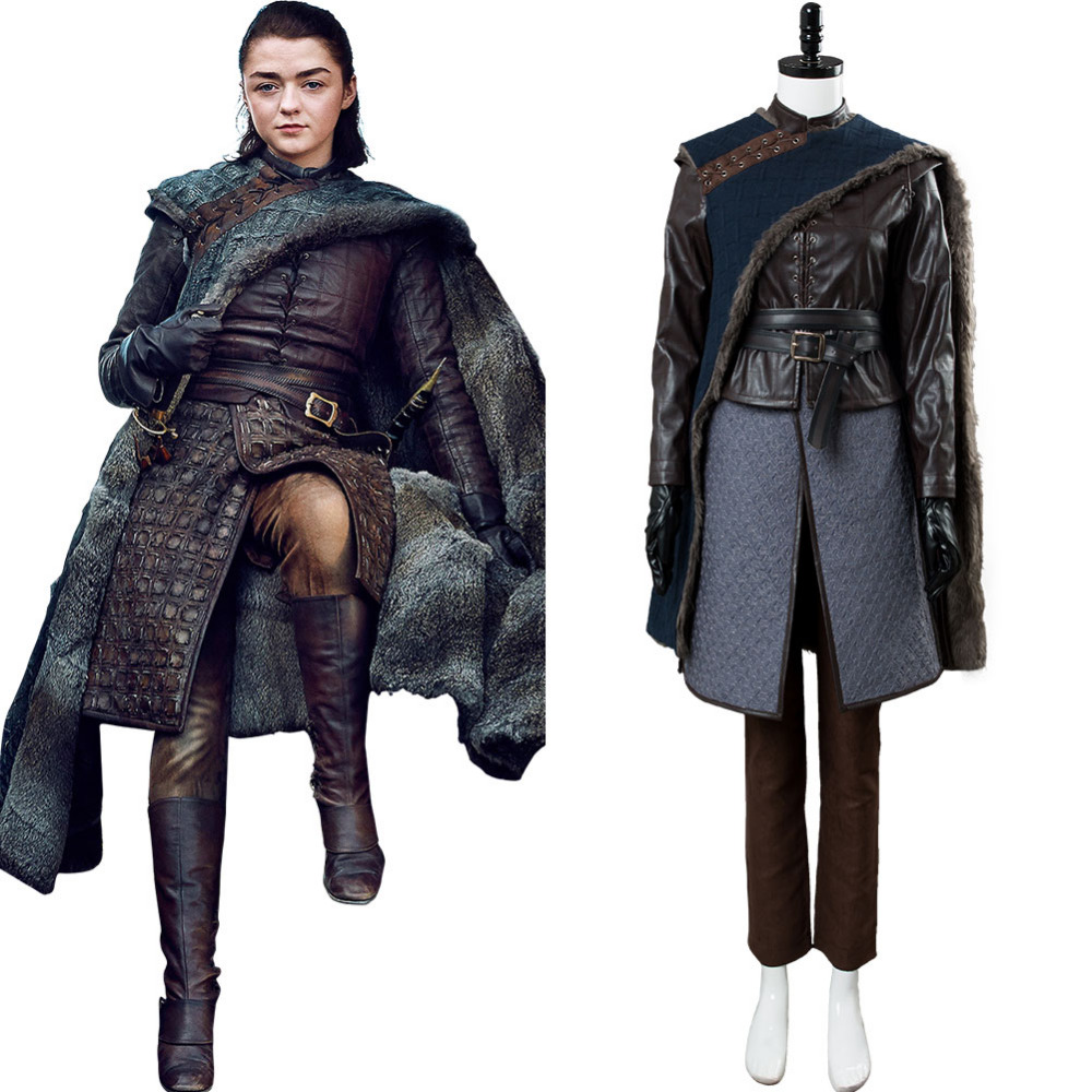 Us 177 1 11 Off Game Of Thrones Arya Stark Cosplay Costume Outfit Cloak Women Girls Carnival Halloween Costumes For Adult Custom Made In Movie Tv
