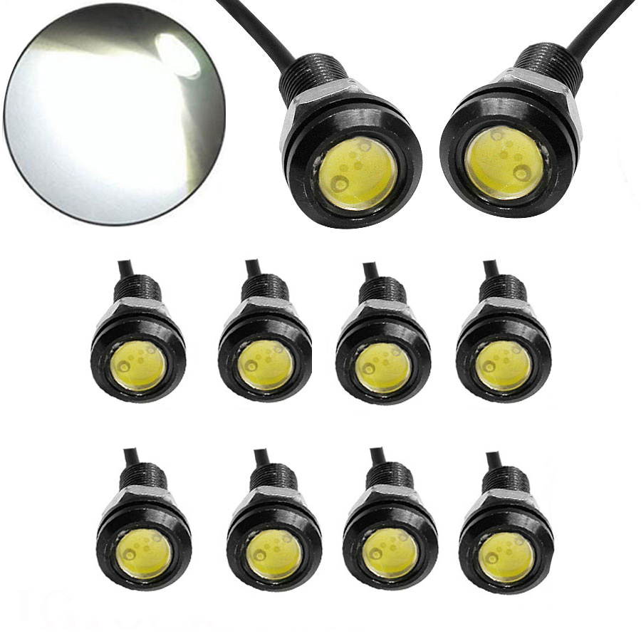 10PCS/Lot 9W LED 18MM DC12V Eagle Eye Light Car Fog DRL Daytime Reverse Backup Parking Signal Light Lamp Hot Selling tonewan new arrive 2pcs waterproof car drl led eagle eye light 10w car fog daytime running light reverse backup parking lamp