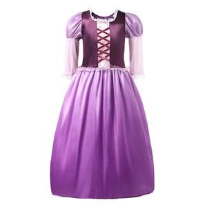 Image 2 - YOFEEL בנות Rapunzl נסיכת קוספליי תלבושות ילדים להתלבש כותרת שרוול סבוך ילדים קיץ מסיבת ליל כל הקדושים שמלה