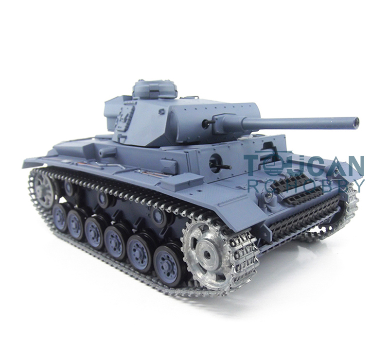 HengLong 1/16 Scale German III L RC RTR Tank Upgraded Metal Version 3848 henglong 3869 3879 3888 3899 rc tank 1 16 parts steel drive system driving gear box free shipping