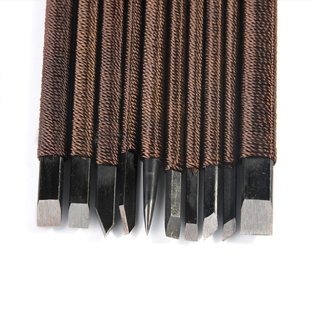 US $18 99 5% OFF|10 pcs/set,Manganese steel chisel, Carved stone knives,  Carving knife, seal, Lettering, Carved chapter,-in Tool Parts from Tools on