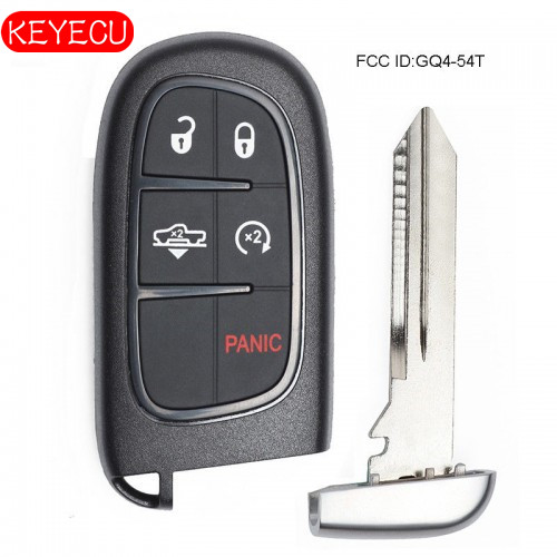 Keyecu Remote Start Smart Key Fob 5B for Air Suspension Ram 1500 2500 3500 FCC GQ4