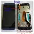 100% Original! para htc desire 626 626g lcd screen display & touch screen digitador com moldura preta, branco/azul frete grátis
