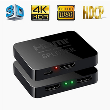 Ultra HD 4K 3D HDMI Splitter 1 In 2 Out HDCP 1080P HDTV HDMI Switch Switcher Amplifier 1x2 UHD Dual Display 4K*2K Video Adapter 2 port 1 4 hdmi splitter 1x2 hdmi switch 5v power supply adapter 1 in 2 out switcher support 3d for audio hdtv 1080p vedio dvd
