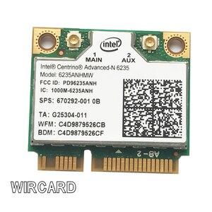 Bezprzewodowa karta lan laptopa WIRCARD dla intel centrino Advanced-N 6235 6235ANHMW 300 mb/s karta wifi Bluetooth 4.0 pół MINI PCIe