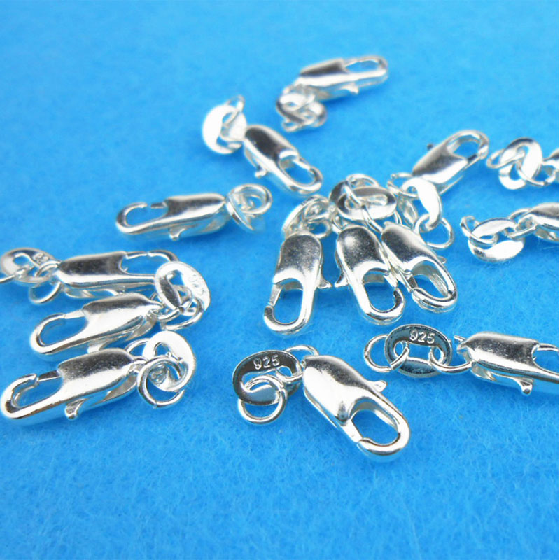 Wholesale 5/10 pieces/lot Silver Plated Lobster Clasps Hooks For Necklace&Bracelet Chain Connectors DIY jewelry findings Making стоимость