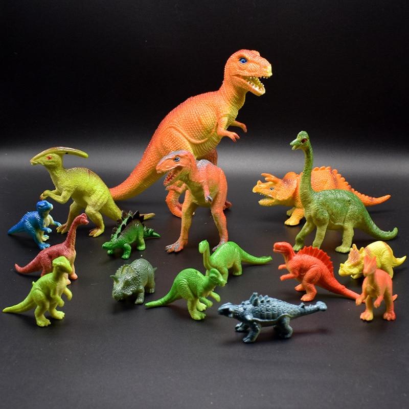16pcs 6-20cm Simulation Dinosaur Kids Happy Birthday Party Gift Boy Jungle Tropical Party Favor Souvenir Giveaway Gift Party Favors