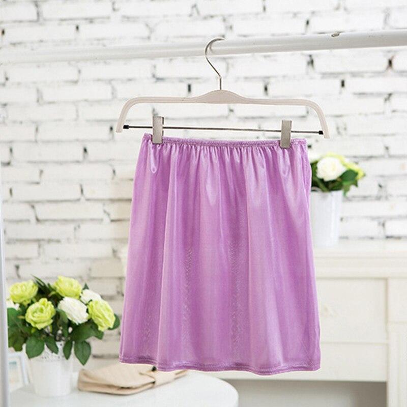 Summer Slips Women's Casual Mini Skirts.Ladies Basic Skirt Underdress Vestidos Loose Half Slips Petticoat Underskirt