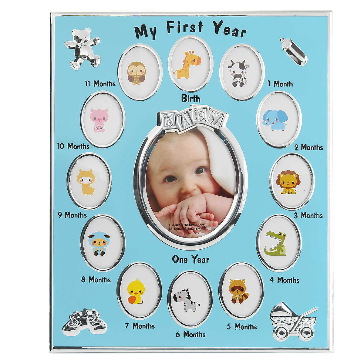 Baby Kids Birthday Gift Decorations From 1 To 12 Month Year Photo Frame Picture Frame Christening Gift Home Decor