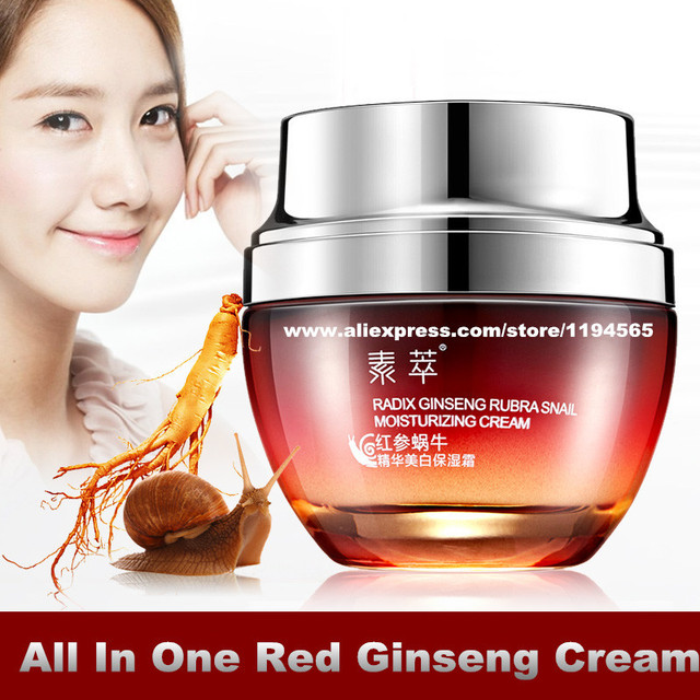 All In One Snail Repair Red Ginseng Essence Whitening Moisturizing Face Cream 50g Hydrating Skin Care Products