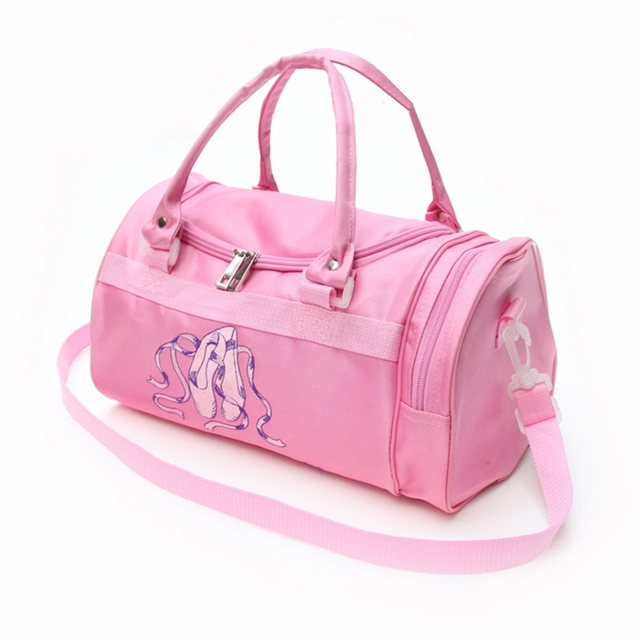 S Pink Ballet Dance Bags Women Waterproof Canvas Lady Dancing Bag