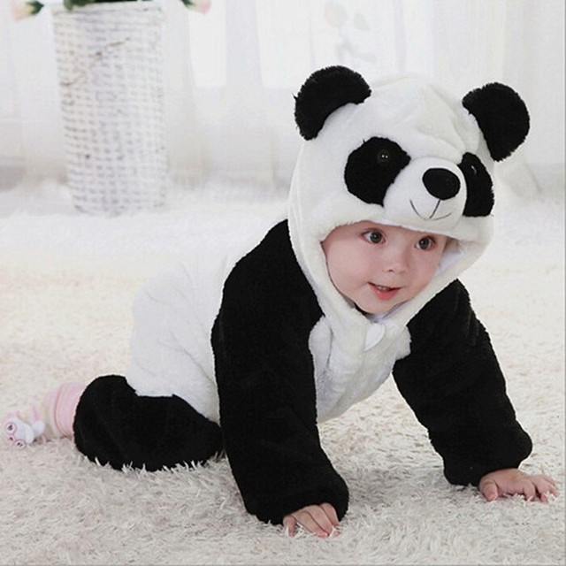 32d28fa633 Free shipping Panda kids baby rompers warm jumpsuit winter clothing  thickening of baby overall Brand bebe baby sets