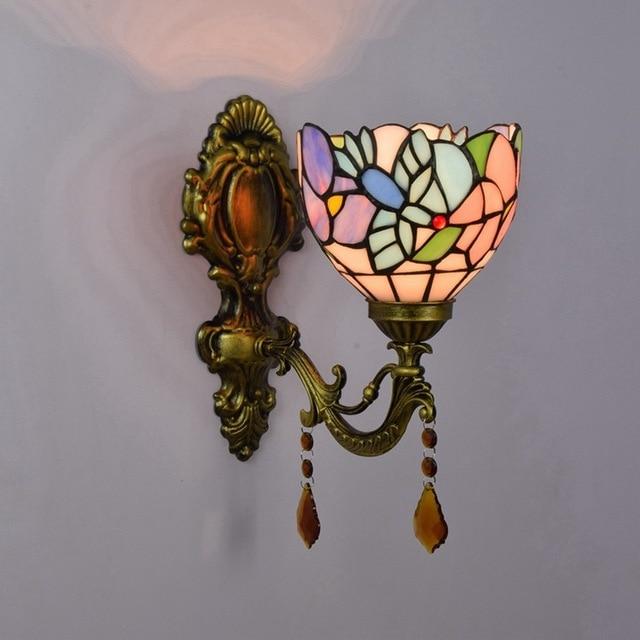 Fashion Tiffany Mediterrane Zeemeermin Spiegel Licht Mode Rustieke Wandlamp  Bed Lampen
