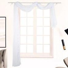 Летние окна балдахин однотонный из тонкой прозрачной ткани легкие стенные шторы дышащие окна балдахин романтическое окно Тюль Декор для спальни