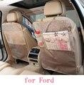 Para Ford focus 2 focus 3 Fiesta mondeo f150 negro a prueba de agua asiento de coche protector de espalda Cubierta de la Caja Niños Patada Estera estera de Barro limpia