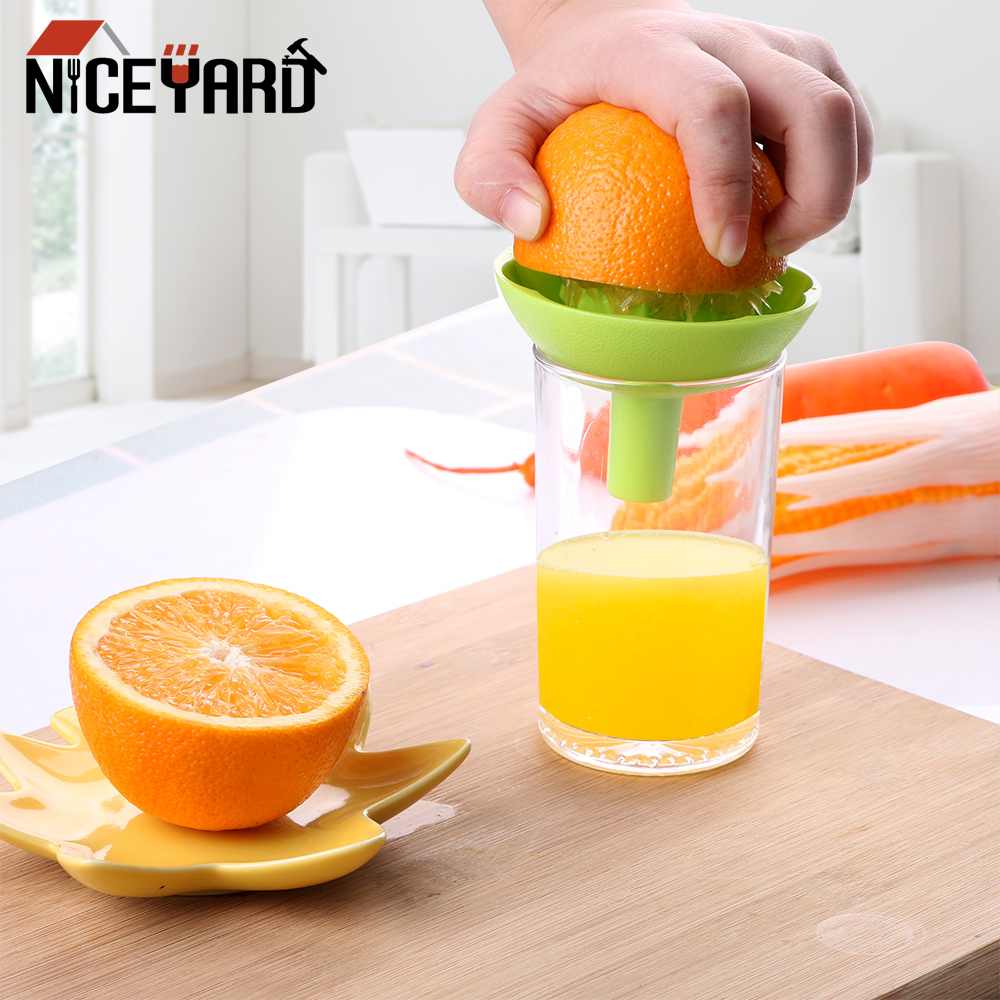 NICEYARD Orange Lemon Juice Squeeze Tool Squeezer With Funnel 2 In 1 Mini Fruit Juice Cup Household Manual Juicer Cooking Tool