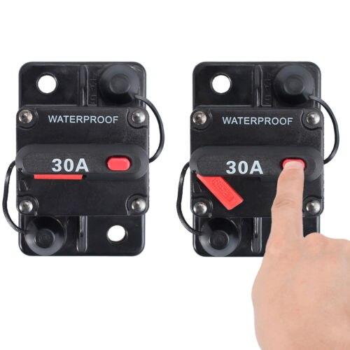 100 Amp Manual Reset Circuit Breaker 12v//24v Boat Accessory Trolling Motor 100A