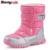 2016 nuevos niños de invierno nieve botas mujer botas cálidas botas impermeables de alta calidad