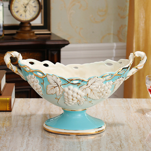 fruit plate living room sets luxury minimalist contemporary tea table decor decoration plate of European ceramics