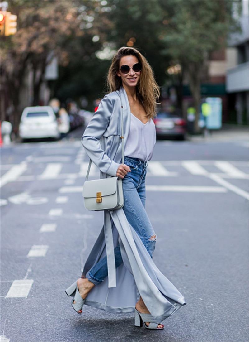 type Ceinture Jupe Manteau Trench Cardigan Mode vent Col Vêtements À Réglable Taille Lsysag Longues Femmes Coupe Femme 2018 Manches P6qwRp7a
