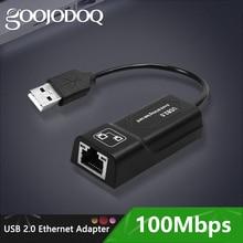 GOOJODOQ USB Ethernet מתאם USB 2.0 רשת כרטיס כדי RJ45 Lan עבור Win7/Win8/Win10 מחשב נייד Ethernet USB