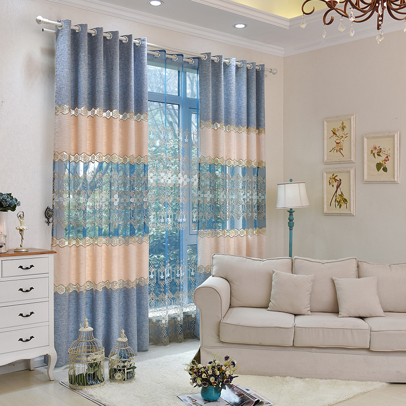 The New Snow Nepal Children Embroidery Tulle Curtains Factory Direct Luxury Shade Of Living Room Customization