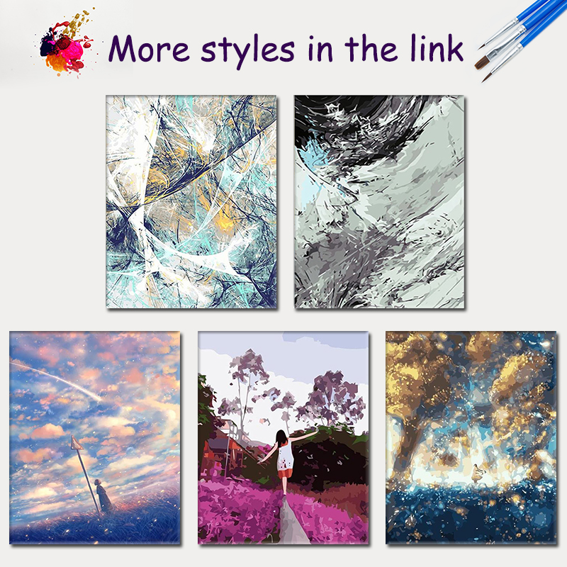 SDOYUNO Painting By Numbers Girl at Storm Center DIY Frame Gift Paint By Numbers For Adults Room Decoration Coloring By Numbers in Painting Calligraphy from Home Garden