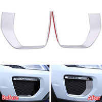 YAQUICKA 2Pcs/set Auto Car Front Fog Light Lamp Strip Trim Styling Cover Sticker For Land Rover Range Rover Evoque 2016