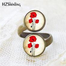 Новое поступление 2017 кольцо с двумя шариками красными цветами